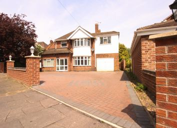 Thumbnail 4 bed detached house for sale in Uppingham Road, Leicester
