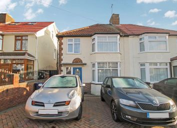 Thumbnail 3 bed semi-detached house for sale in Russell Road, Northolt, Middlesex