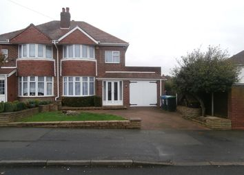 Thumbnail 3 bed semi-detached house to rent in Hillcrest Avenue, Great Barr