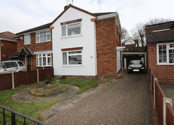 Thumbnail 3 bed semi-detached house for sale in Nightingale Road, Woodley, Reading