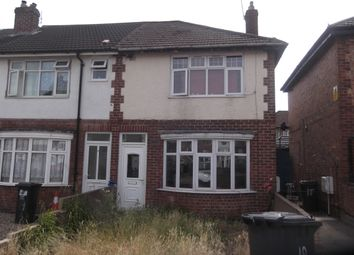 Thumbnail 3 bed end terrace house to rent in Tunstall Crescent, Leicester