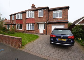 Thumbnail 5 bed semi-detached house for sale in Leyburn Drive, High Heaton, Newcastle Upon Tyne