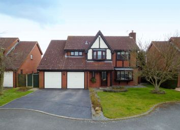 Thumbnail 4 bed detached house for sale in Meadow Close, Shavington, Crewe