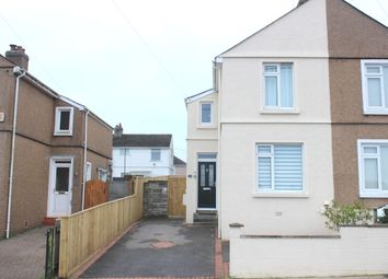 Thumbnail 2 bed semi-detached house for sale in Marina Road, Plymouth