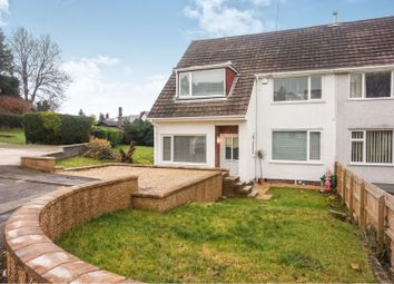 Thumbnail 3 bed semi-detached house for sale in Glanrhyd Close, Tredegar