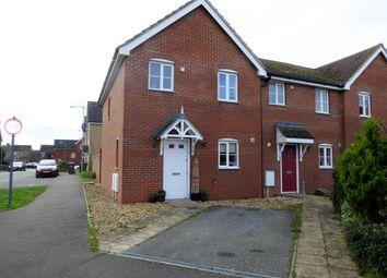 Thumbnail 3 bed end terrace house for sale in Otter Close, Downham Market