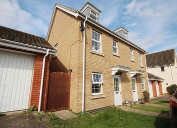 Thumbnail 3 bed town house for sale in Bishy Barnebee Way, Norwich