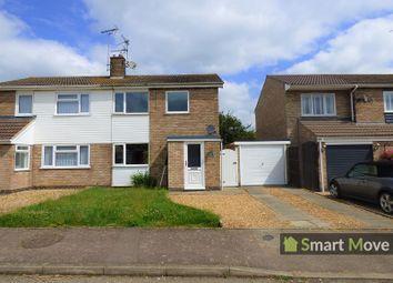 Thumbnail 3 bedroom semi-detached house for sale in Quorn Close, Newborough, Peterborough, Cambridgeshire.