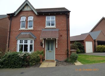 Thumbnail 4 bed detached house to rent in Reading Avenue, Church Gresley, Swadlincote