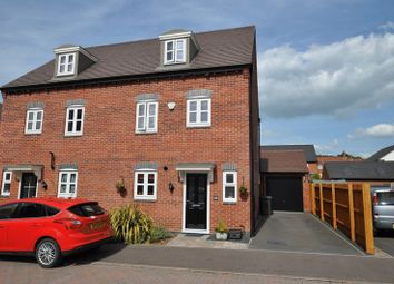 Thumbnail 4 bed semi-detached house for sale in Lewisham Drive, Church Gresley, Swadlincote