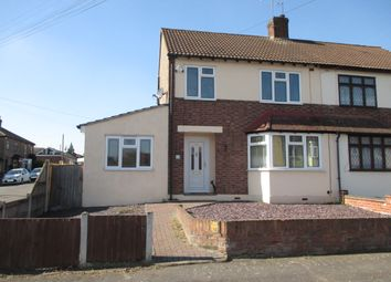 Thumbnail 4 bed semi-detached house for sale in Ethelburga Road, Harold Wood
