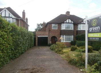 Thumbnail 3 bed semi-detached house for sale in Hillside Road, Four Oaks, Sutton Coldfield