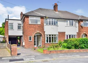 Thumbnail 4 bed semi-detached house for sale in Goodwood Crescent, Timperley, Altrincham, Greater Manchester