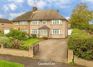 Thumbnail 5 bedroom semi-detached house for sale in Sleapcross Gardens, St Albans, Hertfordshire