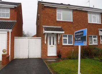 Thumbnail 2 bed semi-detached house to rent in Melrose Drive, Perton, Staffordshire