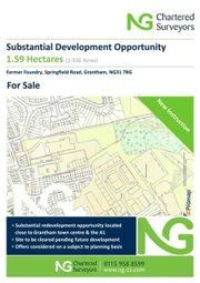 Thumbnail Land for sale in Former Foundry, Springfield Road, Grantham