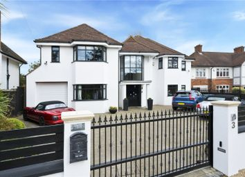 Thumbnail 5 bed detached house for sale in Sandown Road, Esher, Surrey