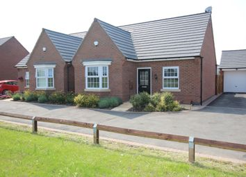 Thumbnail 2 bed bungalow for sale in Netherfield Drive, Sapcote, Leicester