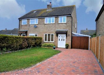 Thumbnail 3 bed semi-detached house for sale in Stone Close, Watlington, King's Lynn