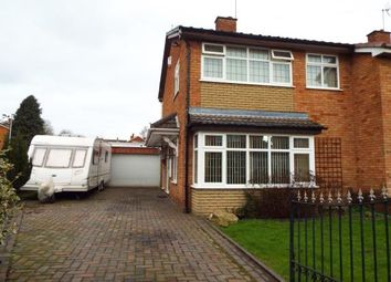Thumbnail 3 bed semi-detached house for sale in Coppice Close, Burntwood, Staffordshire
