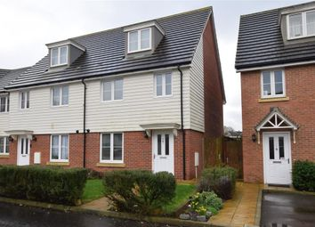 Thumbnail 4 bed town house for sale in Redstart Avenue, Maidstone, Kent