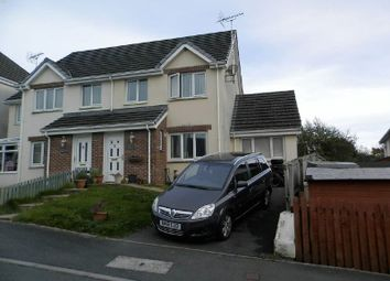 Thumbnail 3 bedroom semi-detached house for sale in Bryn Deri Close, Adpar, Newcastle Emlyn