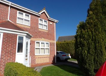 Thumbnail 3 bed semi-detached house for sale in Raby Close, Bedlington