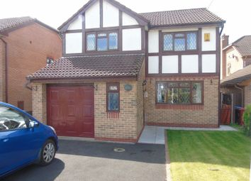 Thumbnail 4 bed detached house for sale in Grovewood Gardens, Whiston, Prescot