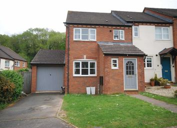 Thumbnail 3 bed end terrace house for sale in Preston Brook Close, Ledbury, Herefordshire
