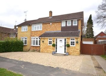 Thumbnail 4 bed detached house for sale in Carlton Crescent, Church Crookham, Fleet