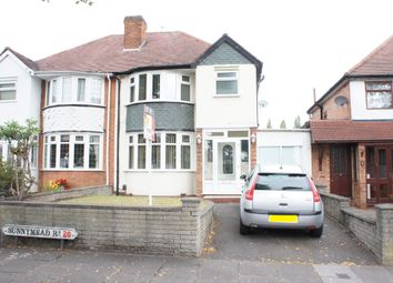 Thumbnail 3 bed semi-detached house to rent in Sunnymede Road, Yardley, Birmingham.