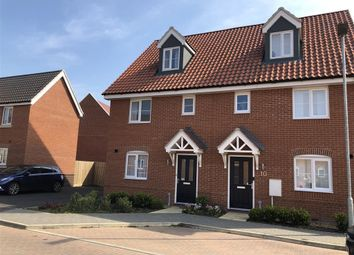 Thumbnail 3 bedroom property to rent in Peacock Way, Attleborough