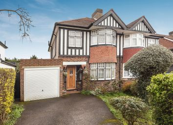 Thumbnail 3 bedroom semi-detached house for sale in Rosedale Road, Stoneleigh, Epsom
