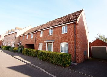 Thumbnail 3 bed link-detached house to rent in Burdock Close, Wymondham