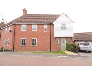 Thumbnail 3 bed semi-detached house for sale in Woodward Close, Watlington, King's Lynn