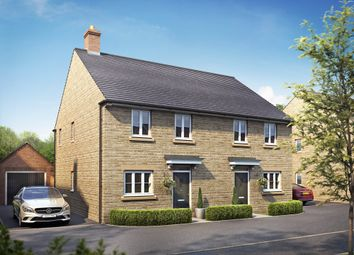 "Thumbnail 3 bedroom semi-detached house for sale in ""Ashurst"" at Field Close, Longworth, Abingdon"