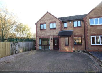 Thumbnail 4 bed semi-detached house for sale in Sherbourne Drive, Branston, Burton-On-Trent