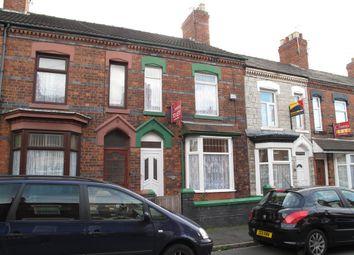 Thumbnail 3 bedroom terraced house to rent in Elizabeth Street, Crewe