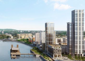 Thumbnail 1 bedroom flat for sale in The Waterman, Barge Walk, Greenwich, London