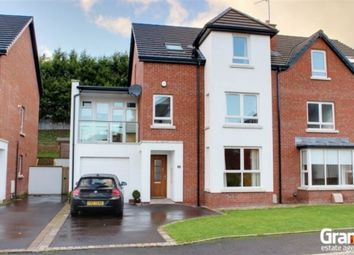 Thumbnail 4 bed semi-detached house for sale in Lakeview Manor, Newtownards
