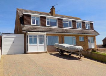 Thumbnail 3 bed semi-detached house for sale in Churchill Road, Exmouth, Devon