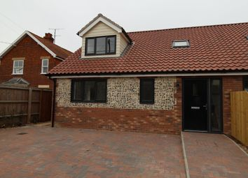 Thumbnail 3 bed semi-detached house for sale in Quaker Lane, Bardwell, Bury St. Edmunds