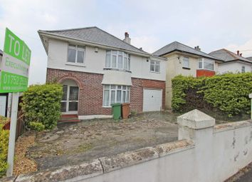 Thumbnail 5 bed detached house to rent in Furzehatt Road, Plymstock, Plymouth