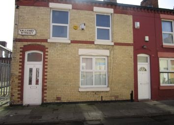 Thumbnail 2 bed terraced house to rent in Galloway Street, Liverpool