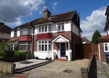 Thumbnail 5 bed semi-detached house for sale in Broomfield Avenue, Broadwater, Worthing