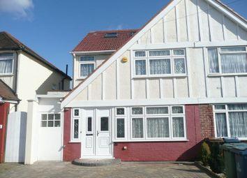 Thumbnail 5 bed semi-detached house to rent in Charlton Road, Kenton, Harrow