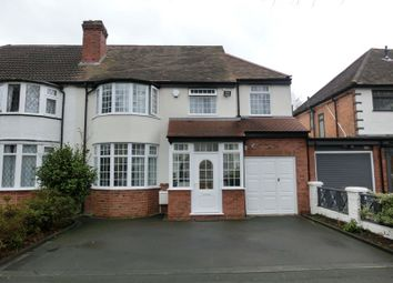 Thumbnail 4 bed semi-detached house for sale in Smirrells Road, Hall Green, Birmingham