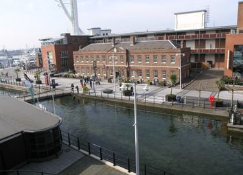 Thumbnail 1 bedroom flat to rent in The Canalside, Gunwharf Quays, Gunwharf Quays, Portsmouth