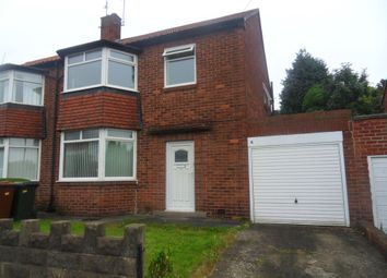 Thumbnail 3 bedroom semi-detached house to rent in Hunters Road, Gosforth, Newcastle Upon Tyne