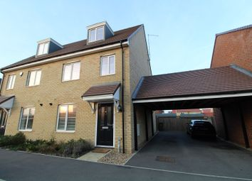 Thumbnail 3 bed semi-detached house for sale in San Andres Drive, Newton Leys